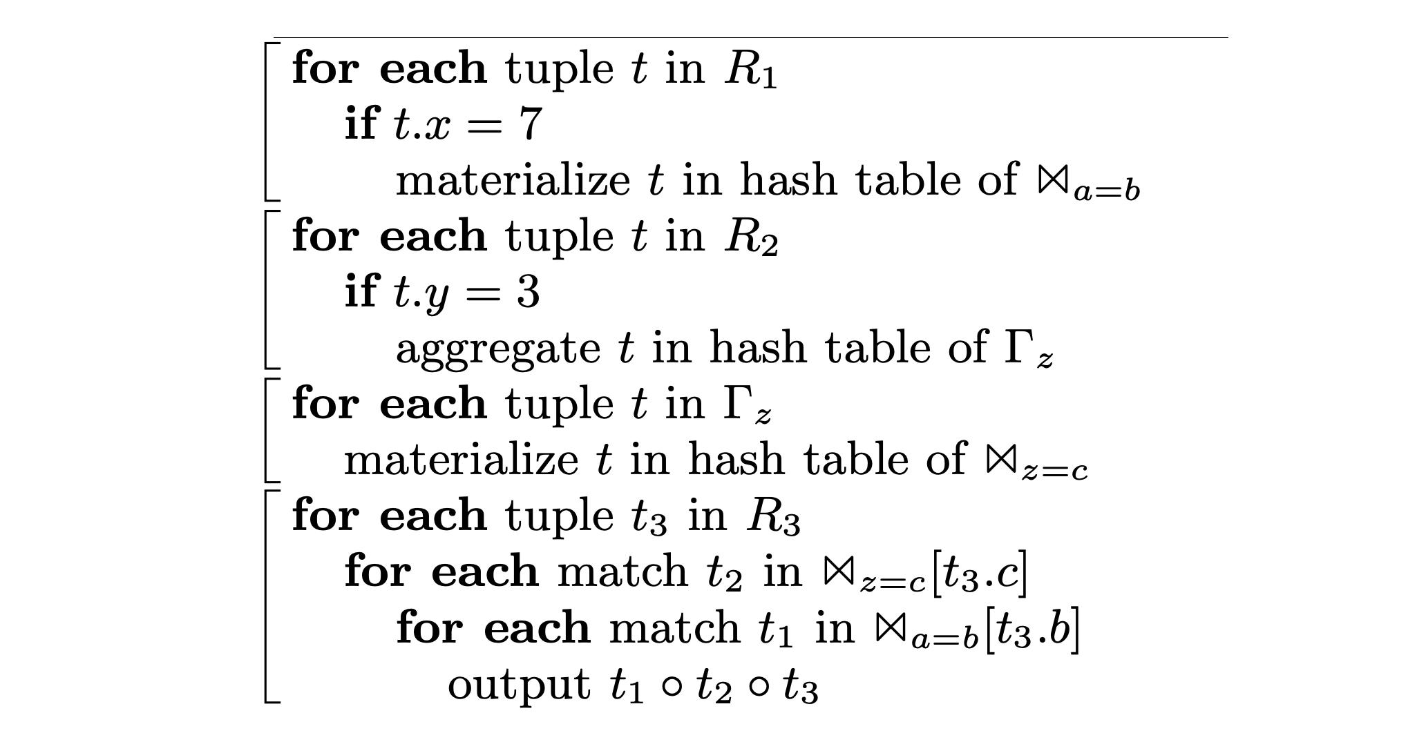 引自Thomas Neumann (2011)四个代码段